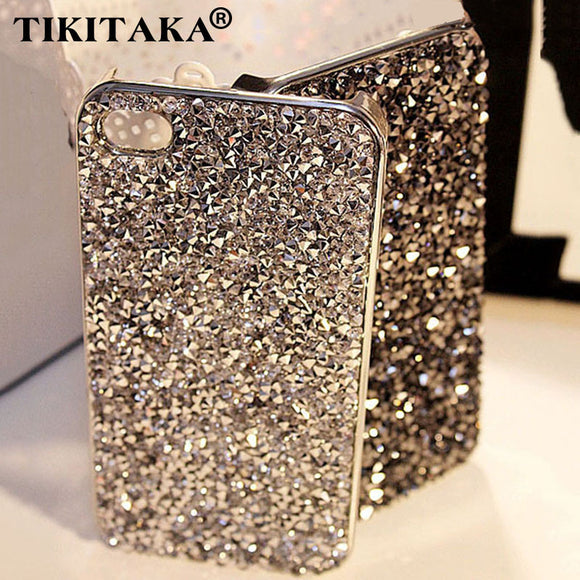 3D Hi-Q Bling Crystal Diamond Hard Cover Phone Cases for IPhone 5 5S SE 6 7