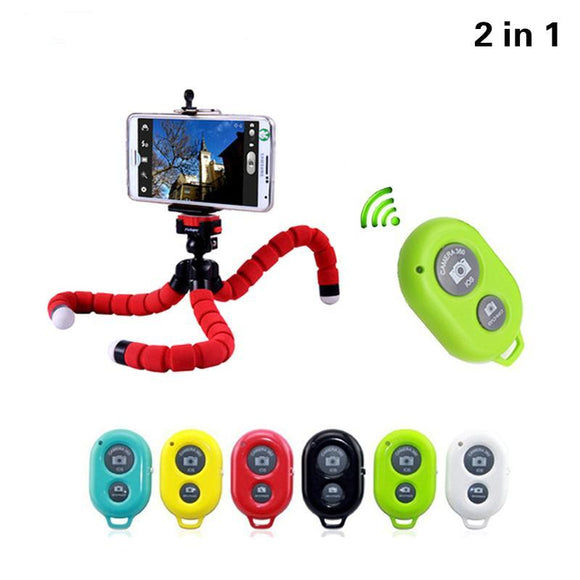 Flexible Tripod + Selfie Button