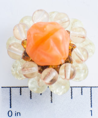 Orange and Clear Bead