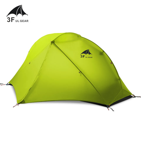 3F UL GEAR 1 Man SilNylon Double Skinned Barracas Para Tent