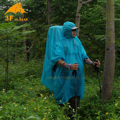 3F Ul Gear Ultralight 15D Nylon Rain Poncho / Tarp
