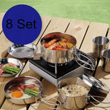 2 Person Stainless Steel Camping Cook Set