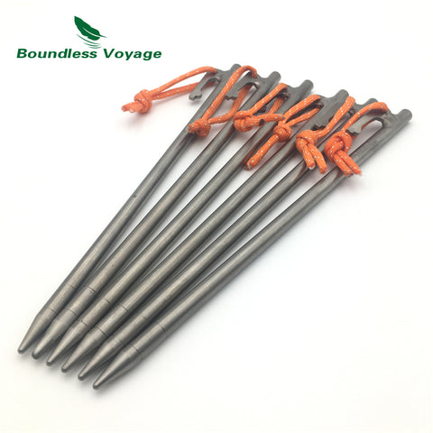 Titanium Tent Pegs, Round Cross Section