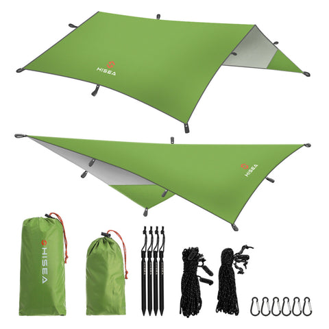 Camping Tarp - Complete Kit / Set Up