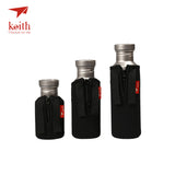 Keith Titanium Water Bottles With Titanium Lids  400ml 550ml 700ml