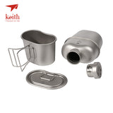 Keith Titanium 1100ml Sports Kettle And 700ml Titanium Lunch Box
