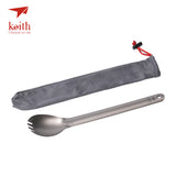 Keith Titanium 200mm Long Handle Spork