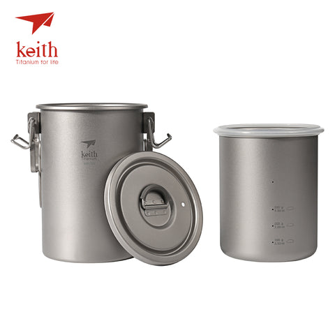 Keith Titanium Outdoor Camping Cooking Pot