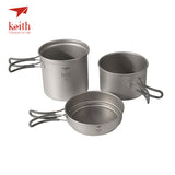 Titanium Lightweight Camping & Backpacking Pan Set