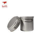 Keith Titanium Lightweight Camping & Backpacking Pan Set
