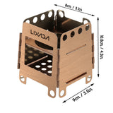 Lixada Lightweight Folding Hinged Solid Fuel Stove