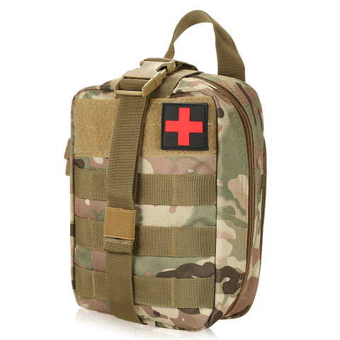 First Aid Pouch With Molle Attachment - Various Colours Available