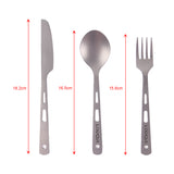Titanium Knife, Fork & Spoon Set For Camping
