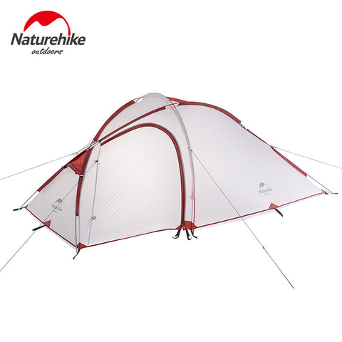 3 Man NatureHike Hiby Lightweight Backpacking Tent 20D/210T