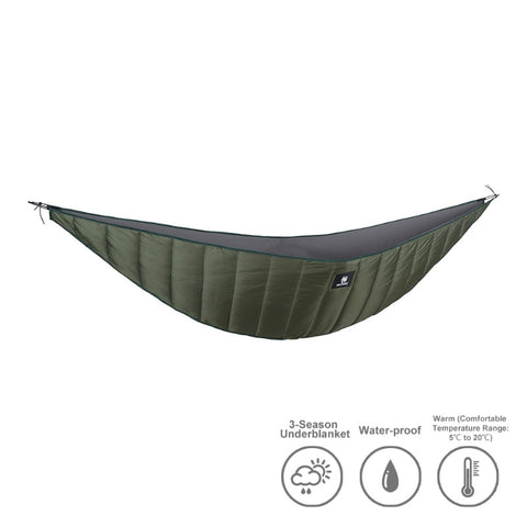 Lightweight Full Length Hammock Underquilt. One Tigris.