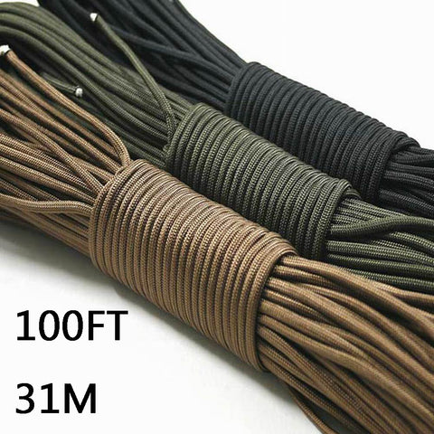Paracord 550 100 Foot Length. Various Colours.