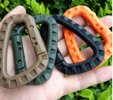 Plastic Carabiner for camping, and tarp use.