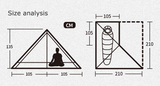 Silnylon One Man Pyramid Tent by NatureHike