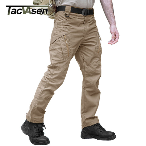 Slim Fit Cargo Trousers - Black, Green & Kharki