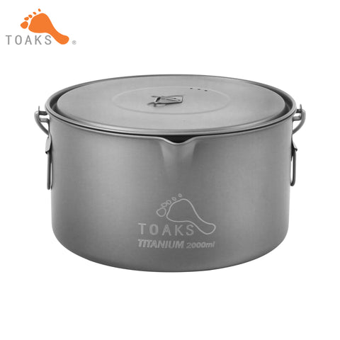 TOAKS Titanium 2000ml Hanging Pot For Camping