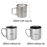 Titanium Mug - 300, 400, 420ml Options