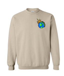 Crew Neck Sweatshirt- right chest logo