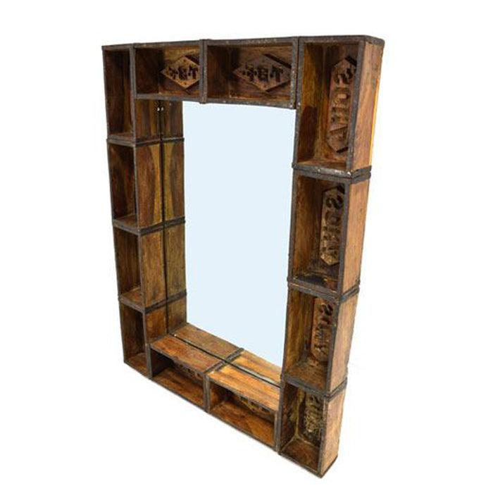 Maddox Mirror, Home Design Store, Mirror, industrial, brick molds, repurposed, distinctive, accent