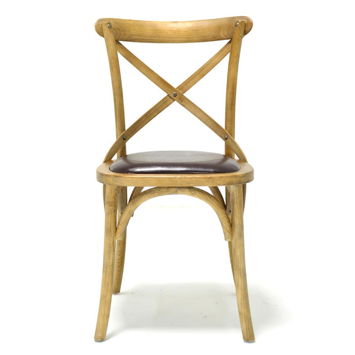 Milo Chair Natural Upholstered Seat