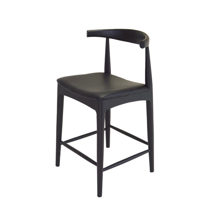 Scandi Barstool Black