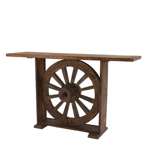 Wagon Wheel Console