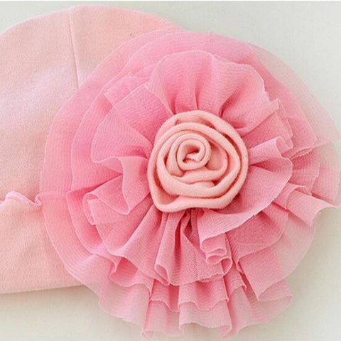 Cute Newborn  Beanie  Big Flower Hat