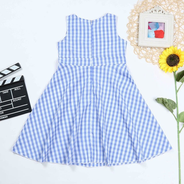Plaid Print Bowknot Dress