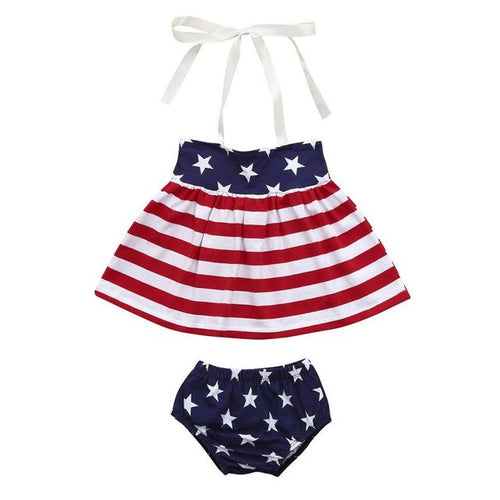 2Pcs Infant Baby Girls 4th Of July
