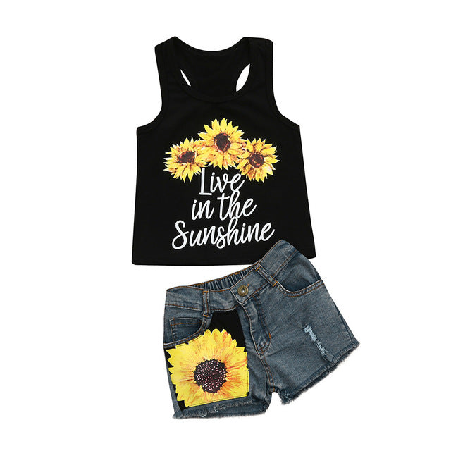 New Summer Lettering Sleeveless Tank Top T-Shirt +