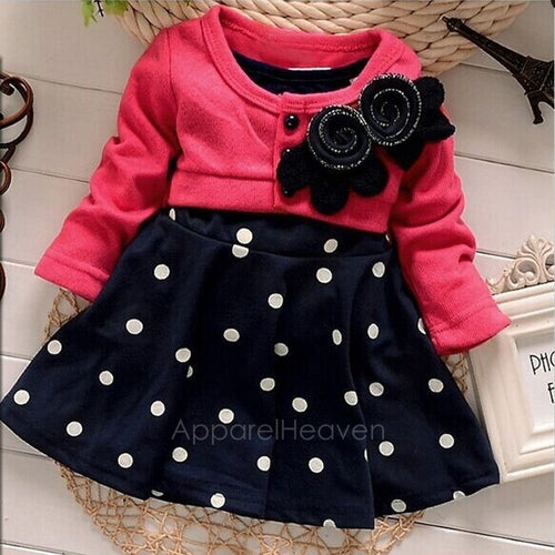 Flower Dot Baby Girls Dress