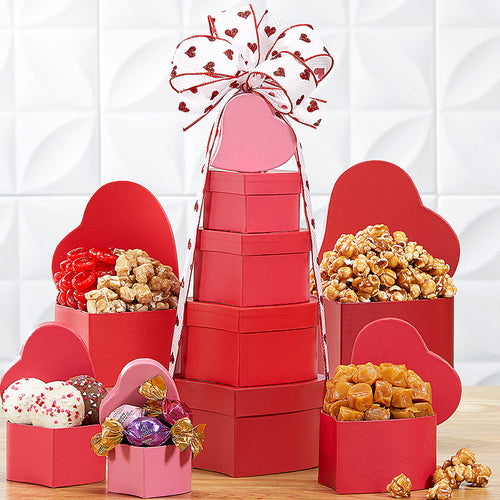 Tower of Hearts Gift Basket By Wine Country Gift Baskets