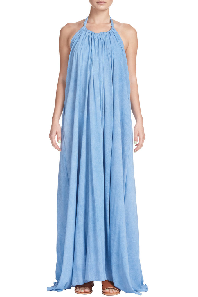 Light Blue Maxi Halter Dress