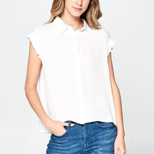 White  Collar Top