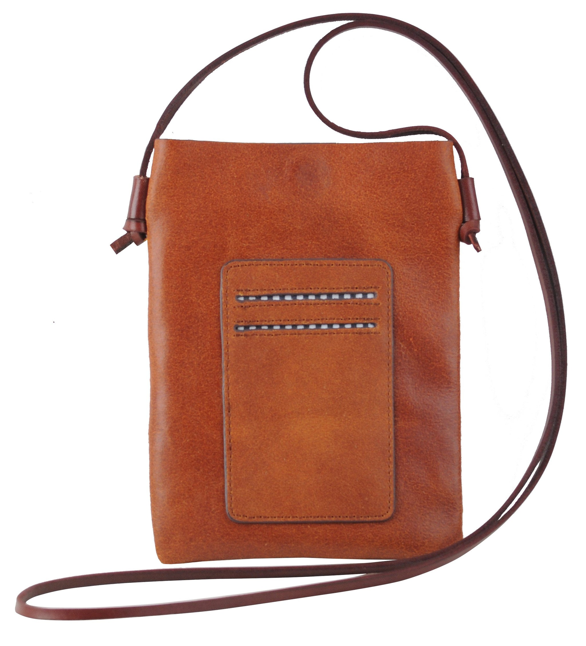 Tan Leather Ready To Go Crossbody Purse