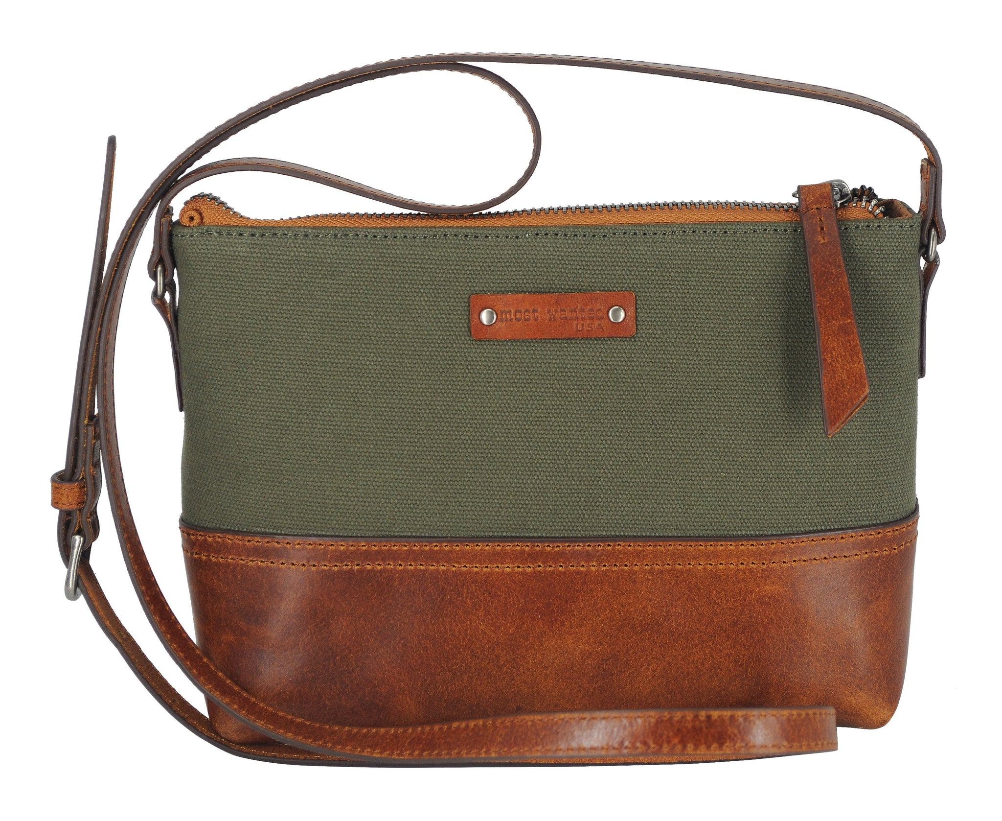 Olive Green Canvas Crossbody