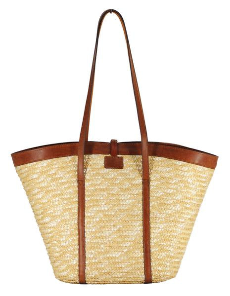Basket Weave Straw Tote