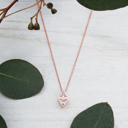 Affinity Diamond Drop Necklace