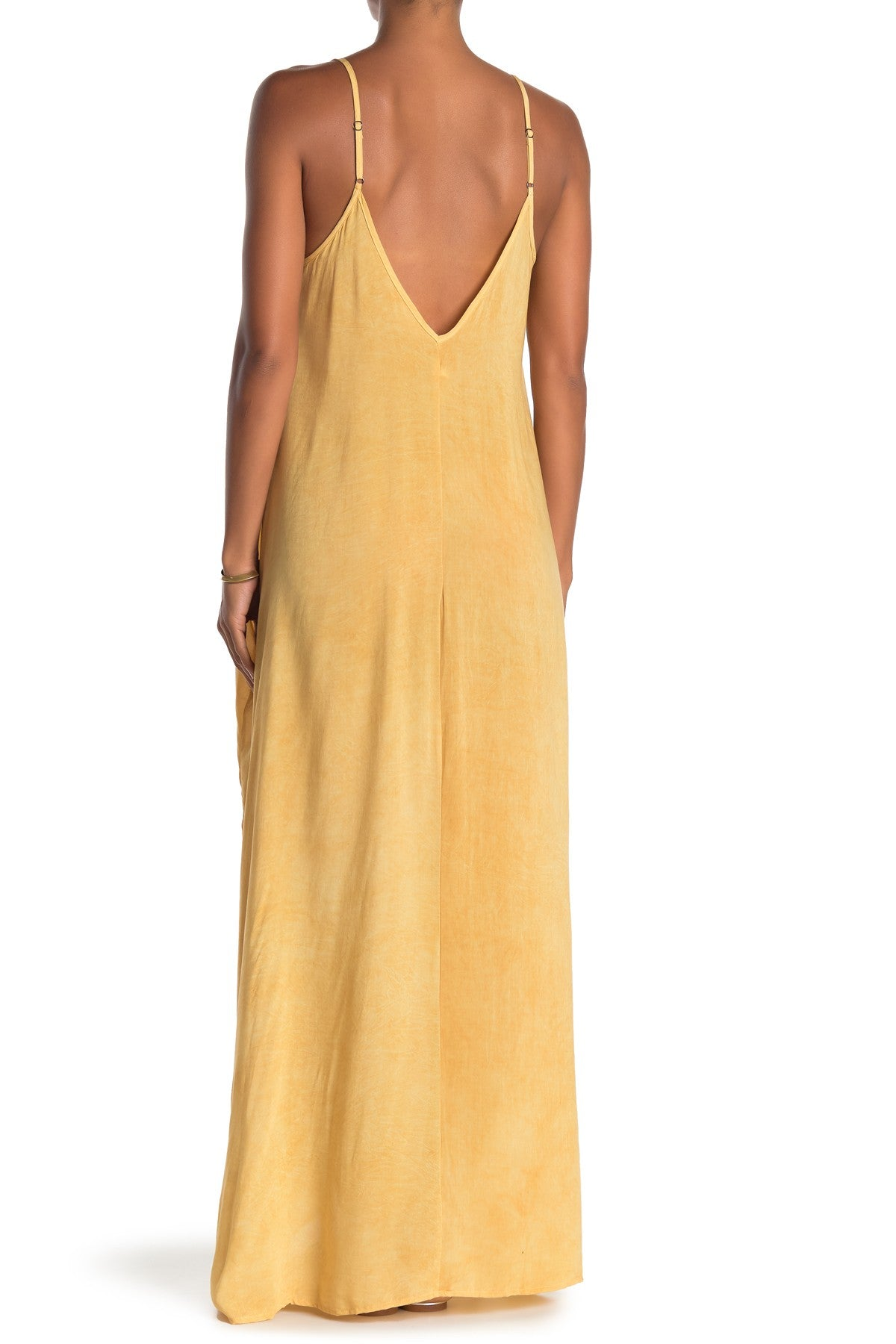Mustard Yellow Spaghetti Strap Maxi Dress
