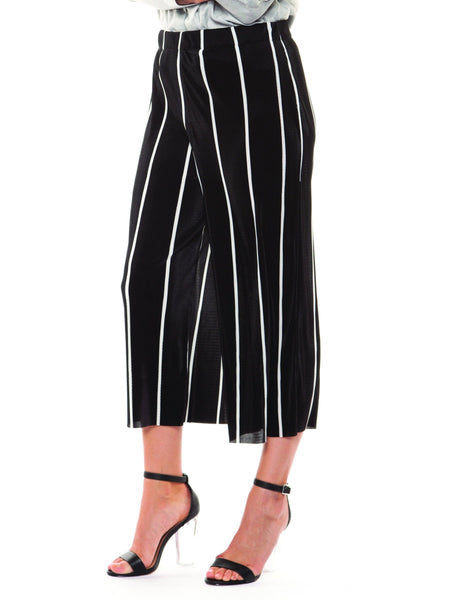 Black Striped Culottes