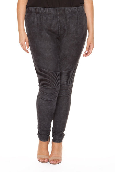 Plus Size Black Moto Jeggings
