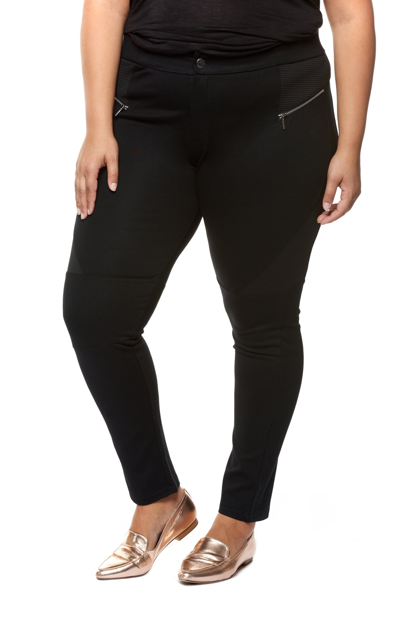 Plus Size Slimming Black Pants