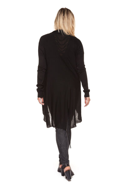 Plus Size Black Long Sleeve Cardigan