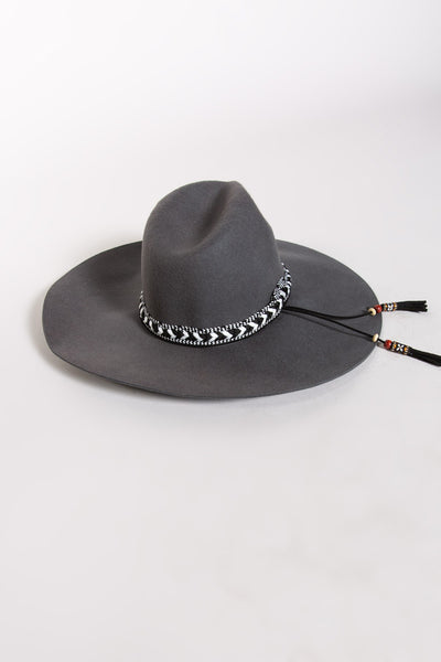 Grey Urban Wool Floppy Hat