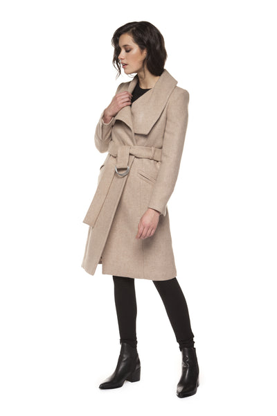 Blush Wrap Coat with Self Belt
