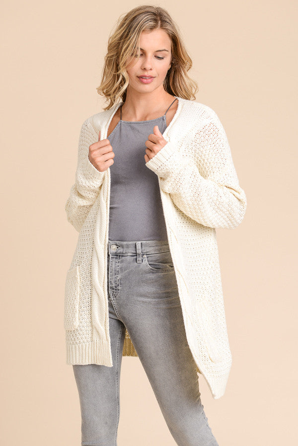 Ivory Cardigan Sweater